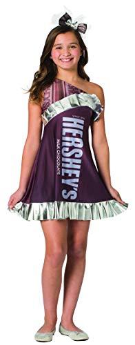 Easy Group Halloween Costumes For Girls (Hershey Chocolate Bar Girls Tween Costume Candy Dress Hershey's Tween Size)