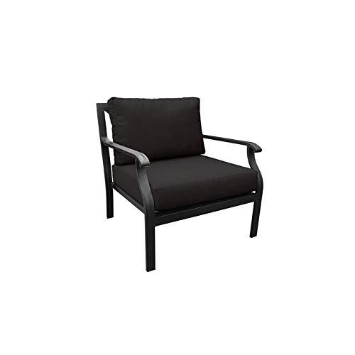 TK Classics Kathy Ireland Madison Ave. Club Chair in Black