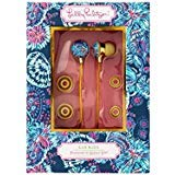 (Lilly Pulitzer Earbuds with Silicone Tips and Volume Control, Gypsea)