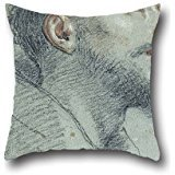 The Oil Painting Marco Benefial - Study Of The Head Of Saint Francis Pillowcase Of ,16 X 16 Inches / 40 By 40 Cm Decoration,gift For Kids Girls,coffee House,seat,couch,adults,club (each (Marco Polo Costume)