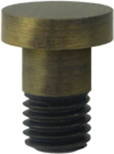 Deltana Solid Brass Hinge Extended Button Tip (Set of 10) (Antique - Brass Button Deltana