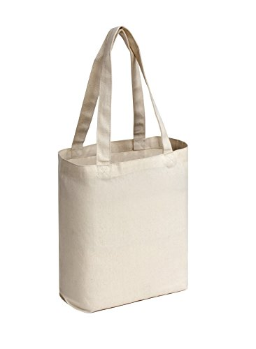 (Large Blank Cotton Tote Bags (12 Pack) - 16