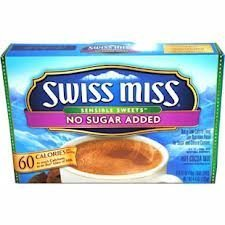 Swiss Miss, No Sugar Added, Hot Cocoa Mix, 8oz Box (Pack of (Hot Cocoa Mix No Sugar)