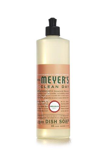 Mrs. Meyer's Clean Day Liquid Dish Soap, Geranium, 16 Fluid Ounce