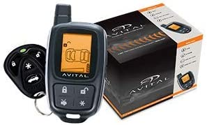 Avital 5305L Security System with 2-Way LCD Display Remote