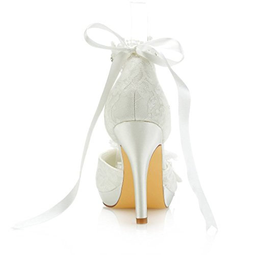 Donna Tacco Ivory Mrs Scarpe Right Col nxqnAawIS