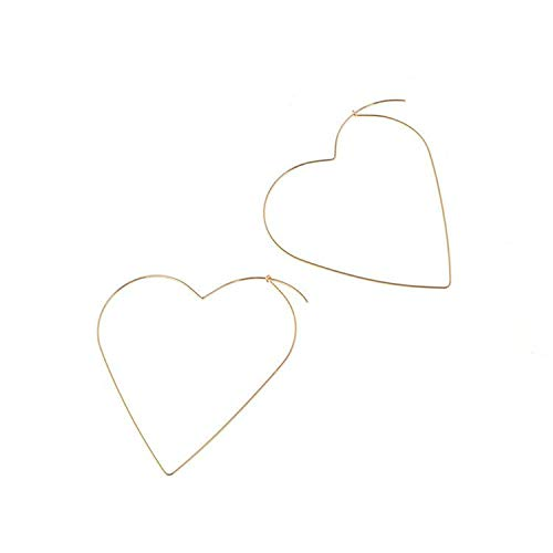 The Personality Exaggerated Sexy Tide Female Earrings Love Big Heart Empty Earrings Jewelry D -