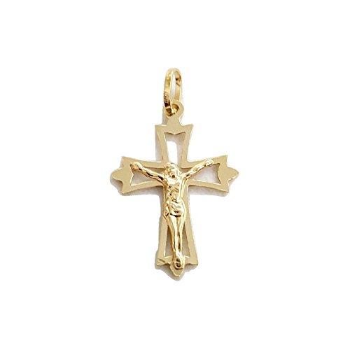 Pendentif croix-Croix en or jaune 18carats 750/0002,8cm x 2,0cm