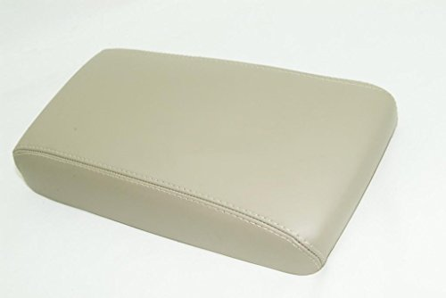 Fits 1996-2004 Nissan Pathfinder Synthetic Tan Leather Console Lid Armrest Cover . (Vinyl Part Only)
