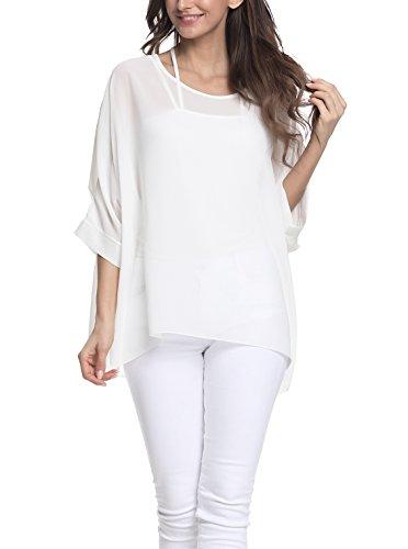 - Vanbuy Women Summer Floral Printed Batwing Sleeve Top Chiffon Poncho Casual Loose Shirt Z91-4306