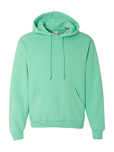 Jerzees Mens NuBlend Pull Over Hooded Sweatshirt, JZ996MR, L, Cool Mint
