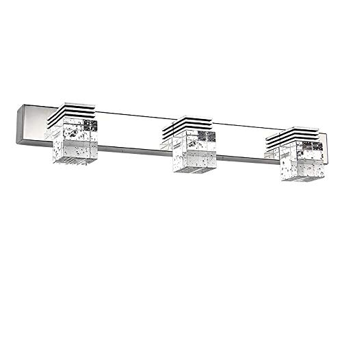 Ikakon 9W Bathroom Mirror Light 3 LED Mirror Front Light Vanity Light Stainless Steel Make-up Lighting Bathroom Wall Lamp Cool White [Energy Class A++]