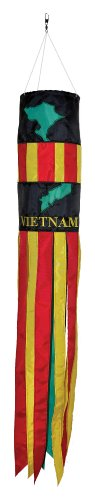 Outdoor Appliqued Windsock (In the Breeze Vietnam 40 inch Windsock Hanging Decoration)