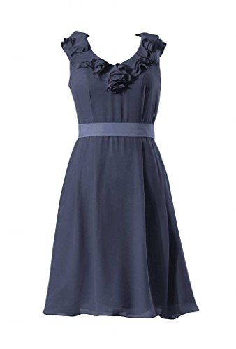 V Short Bridesmaid 35 neck Gown Vintage navy DaisyFormals Dress chiffon Party BM245 nFw7I5Bx