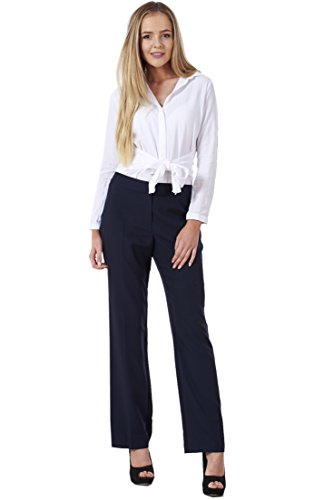 d6f95714f6f BHS Ladies Comfortable Work Straight Leg Office Formal Smart Womens Trousers