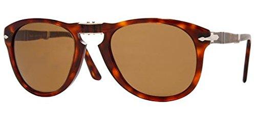 Persol PO0714 Havana/ Polarized Brown Size 52mm Sunglasses (Persol Steve Mcqueen 714 Sm Special Edition)