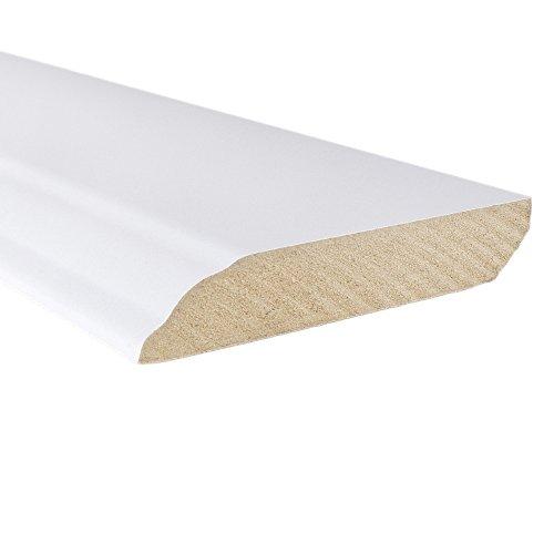 "White Wall Base 3/5"" x 94"" - 10 Piece Bundle - Prefinished - Floor Base Molding for Wood, Laminate, Wpc, Lvt and Vinyl"