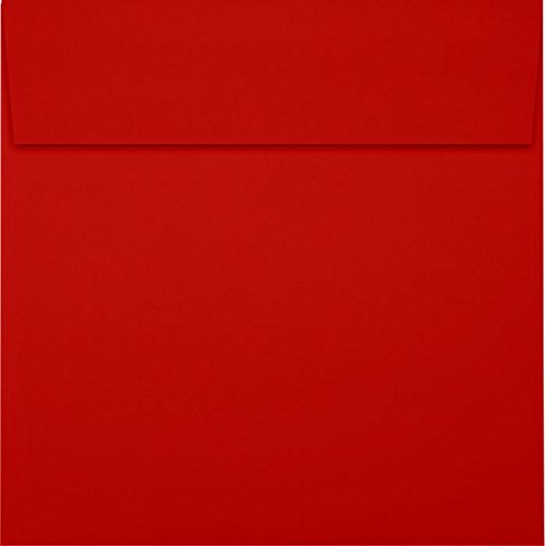 6 1/2 x 6 1/2 Square Envelopes - Holiday Red (50 Qty) | Perfect for Invitations, Announcements, Greeting Cards, Photos | 8535-15-50