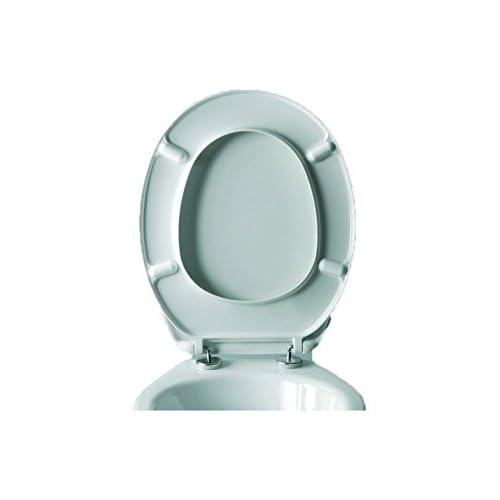 "EVIDECO 528831MOOREAW Round Toilet Seat Moorea Adjustable Hinges White 17.8""L x 14.5""W 85%OFF"