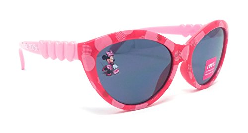 Disney Store Girl's Minnie Mouse Sunglasses in Pink with Cute Heart - Sunglass Disney