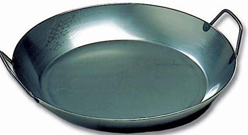 Matfer Bourgeat 15 ¾ -inch Black Steel Paella Pan
