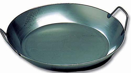 Matfer Bourgeat 062052 Black Steel Paella Pan, 15-3/4 In. Diameter