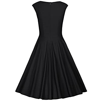 MUXXN Women's 1950s Retro Vintage Cap Sleeve Party Swing Dress: Clothing