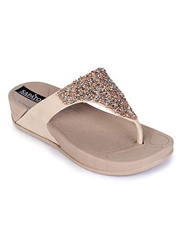 Sapatos Flat Slippers for Women, Women Casual Footwear, Fashionable Flat Chappal for Ladies, Ideal Gift for Special…