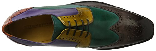 Melvin & HamiltonJeff 14 - zapatos derby hombre Mehrfarbig (Classic Stone, Bottle Green, Yellow, Purple Flame, W. Orange, Hrs)