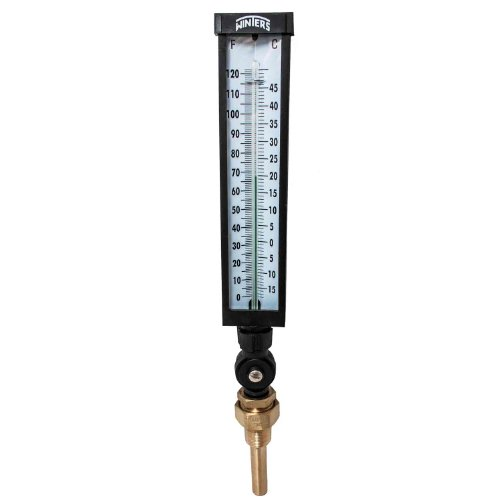 Winters TIM102LF Lead free Well Thermometer, 3/4'' NPT, 0 to 120 degrees F, ±1% accuracy, Graphite Filled by Winters Instruments