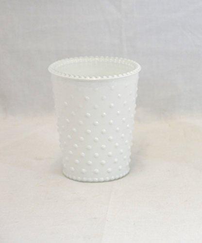 Small White Hobnail Glass Jar - Set Of 6 ()