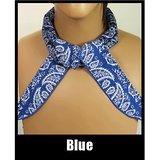 JellyBeadZ Brand Cooling Neck Scarf Bandana -Blue Bandana Pattern