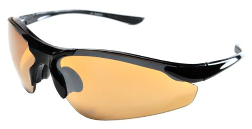 JiMarti TR15 Sunglasses for Golf, Fishing, Cycling-Unbreakable (Black & Bronze)
