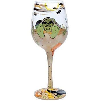 Lolita Halloween Sand Witch Love My Wine Glass -