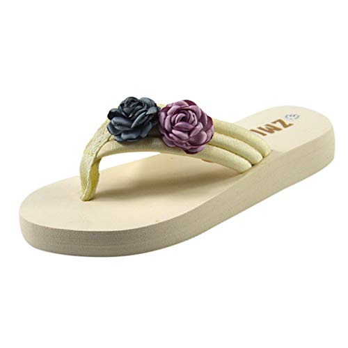(Women's Fashion Casual All-Purpose Hermitage Flower-Cake Slippers Shoes,Outsta 2019 Fashion Shoes Purple)