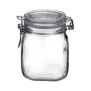 Bormioli Rocco Fido Round Clear Jar, 25.25 Ounce