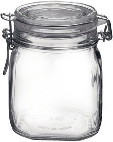 Bormioli Rocco FBA_24304 Fido Round Clear Jar, 25.25-Ounce, 25.25 OZ