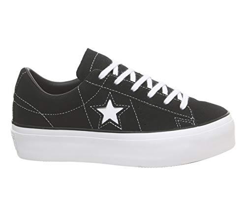 Star Mujer One Black Negro Converse Zapatillas White Platform Zx4Cwzz5q