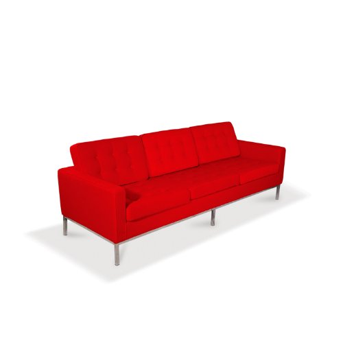 Modway Florence Style Sofa, Tweed, Red