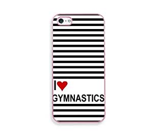 Love Heart Field Gymnastics Pink Silicon Bumper iPhone 5 & 5S Case - Fits iPhone 5 & 5S