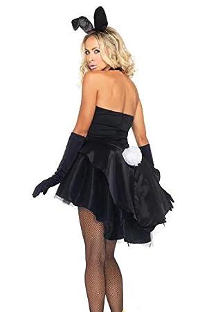 thematys® Sexy Playboy Bunny Vestido - Conjunto de Disfraces para Damas Carnaval y Cosplay (Medium)