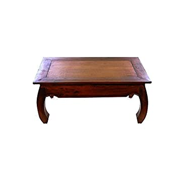 Table Couleur Grande Homeamp; Opium Noyer Moai Basse Garden tsdxrQCh
