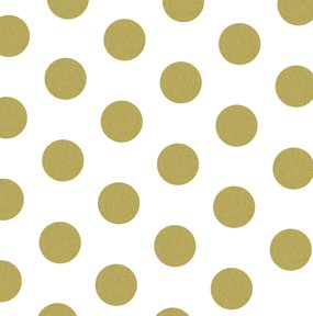 Wedding Tissue Paper - Gold and White Polka Dots Tissue Paper 20 Inch X 30 Inch - 24 X-LargeSheets