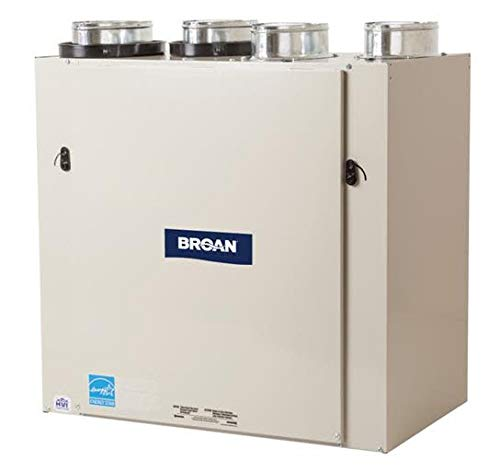 Broan HRV160TE 157 CFM Heat Recovery Ventilator with Top Ports, N/A