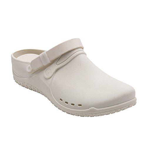 nbsp; Bianco donna Scholl bianco Sabot sandali 44 dwIn6U