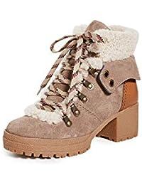 See by Chloe Women's Eileen Mid Shearling Hiker Boots