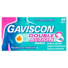 Gaviscon Double Action Mint Chewable 96 Tablets (48x2) (Best Cheap Tablet Uk)