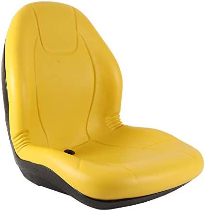 Plastic Pan 19 wide New Complete Tractor Seat 3010-0060 Yellow Medium Back 21 Height
