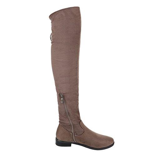 claro clásicas marrón Ital Mujer Design botas xXYnq4O