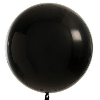 Qualatex Round Latex Giant Balloon , 3', Onyx Black